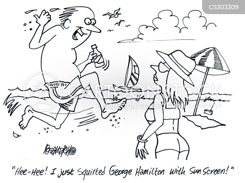 george hamilton cartoon