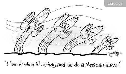 mexican waves cartoon