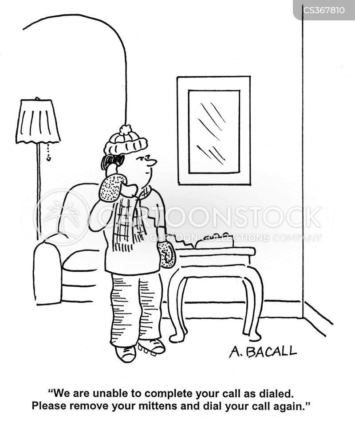 dialing cartoon