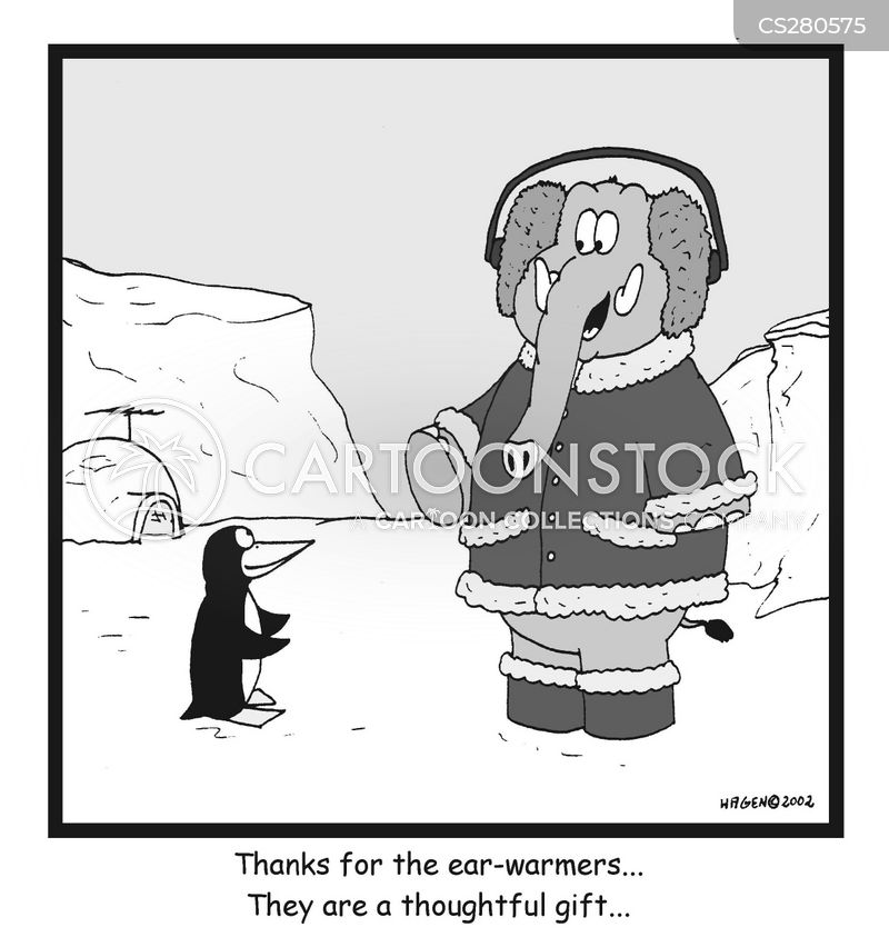 cold ear cartoon
