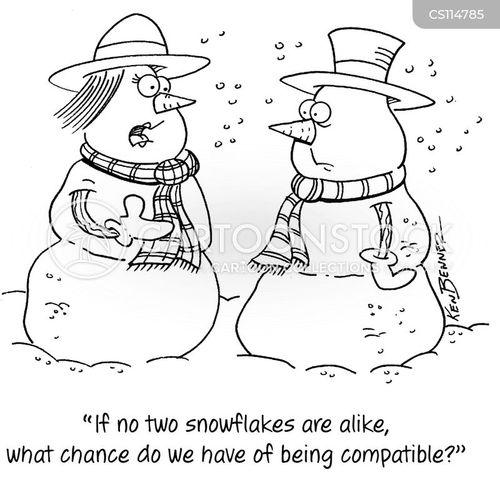 snow people cartoon