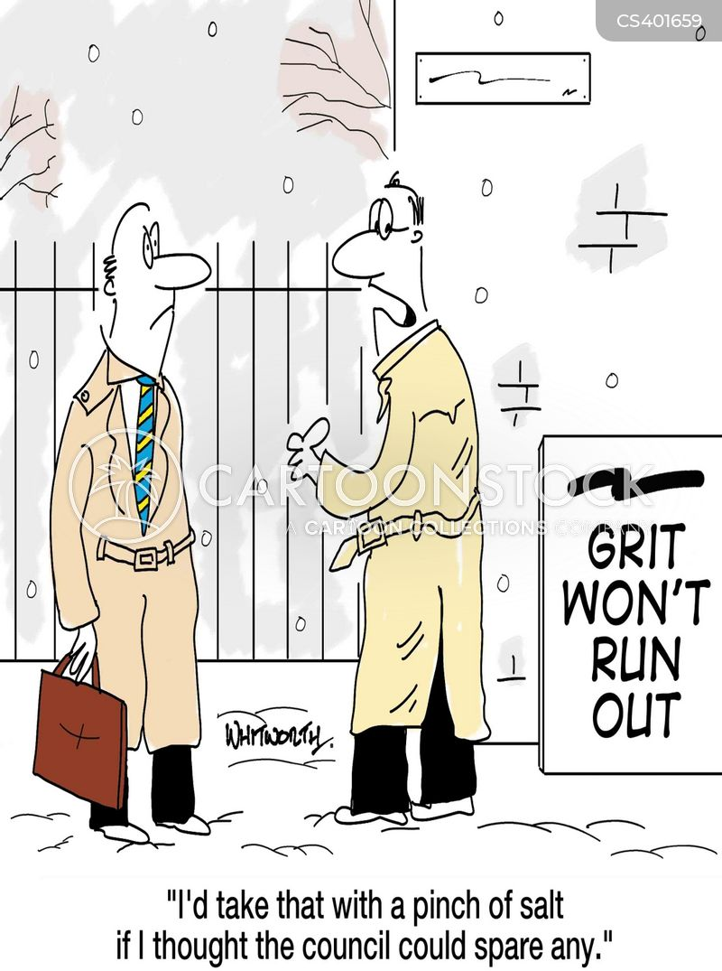 snow falls cartoon