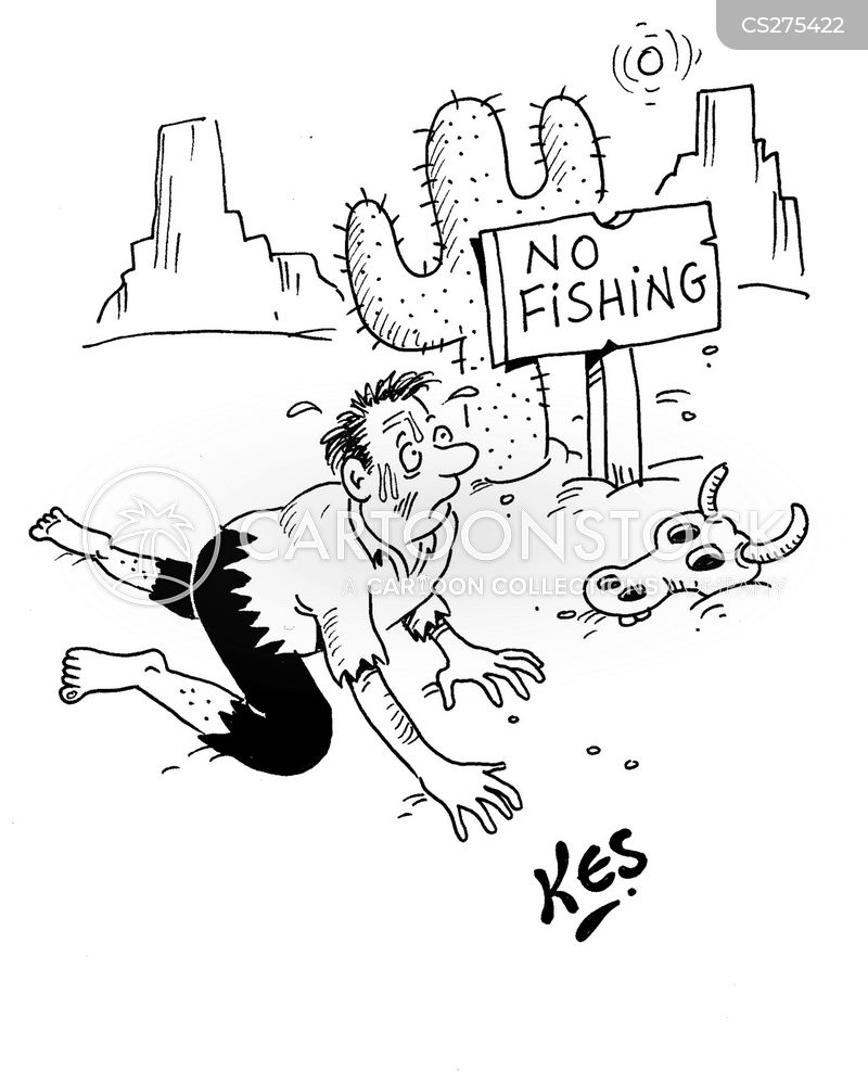 no fishing cartoon
