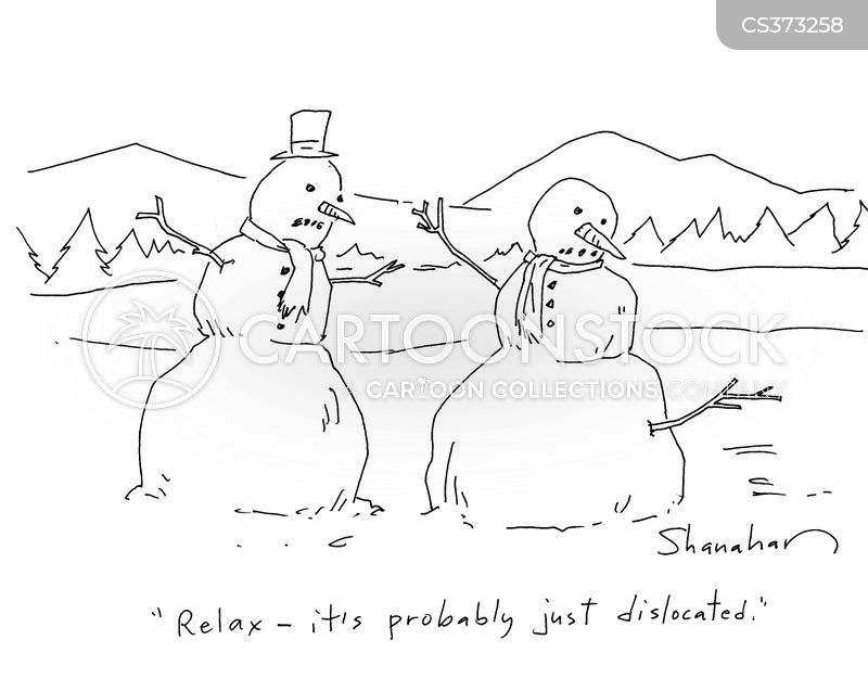 dislocated shoulders cartoon