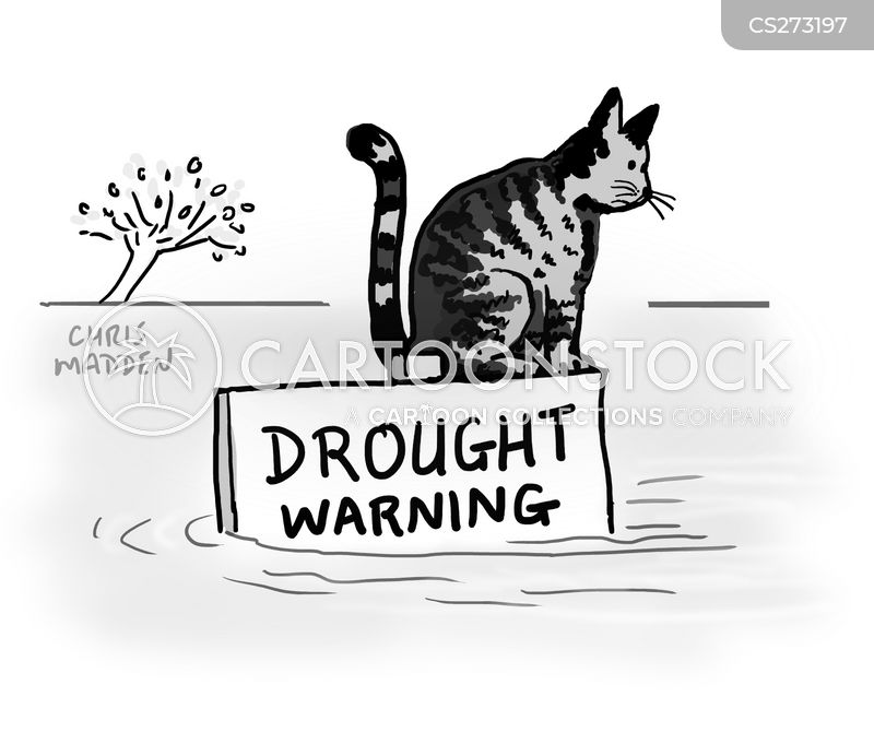 drought warning cartoon