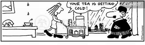 tea service cartoon