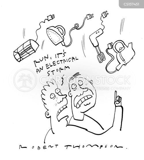 electrical storm cartoon