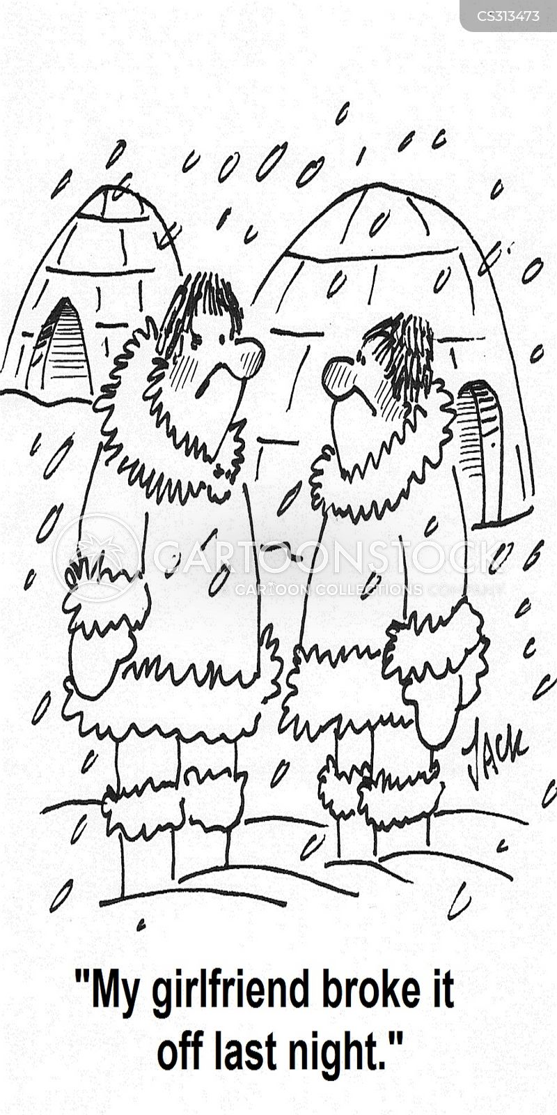 cold weathers cartoon