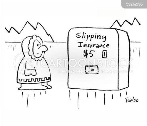 slipping over cartoon