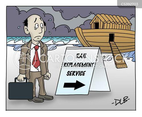 flood waters cartoon