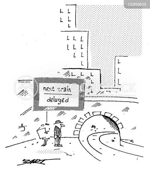 train delays cartoon