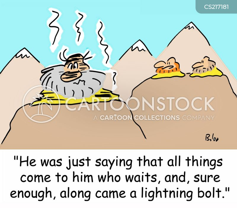 enlightall things come to those who wait cartoon