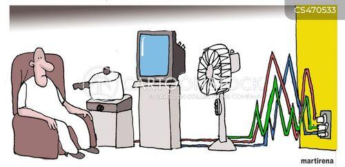 electricity supplies cartoon