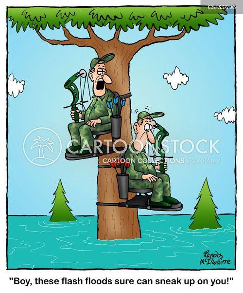 bow hunters cartoon