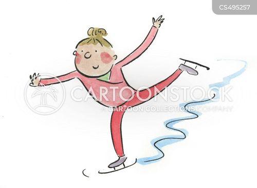 wintersports cartoon