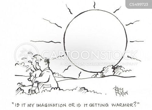 heating up cartoon