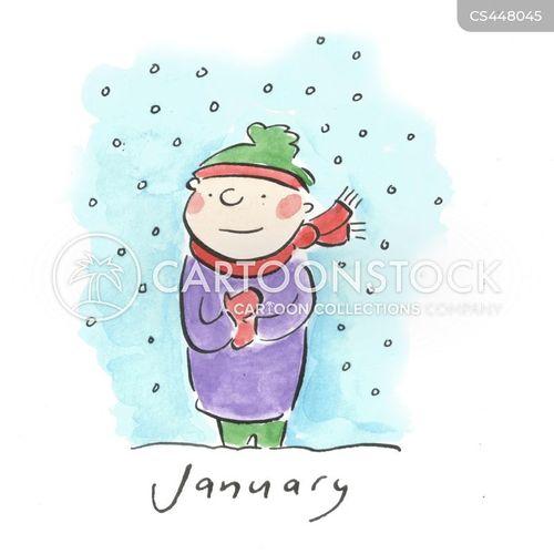 winter months cartoon