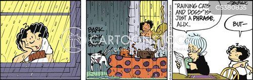 rainy weather cartoon