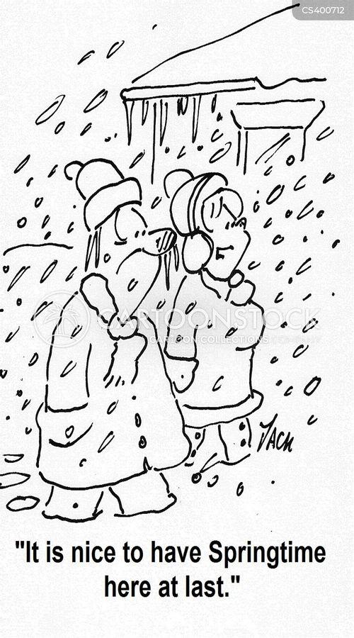 wintry cartoon