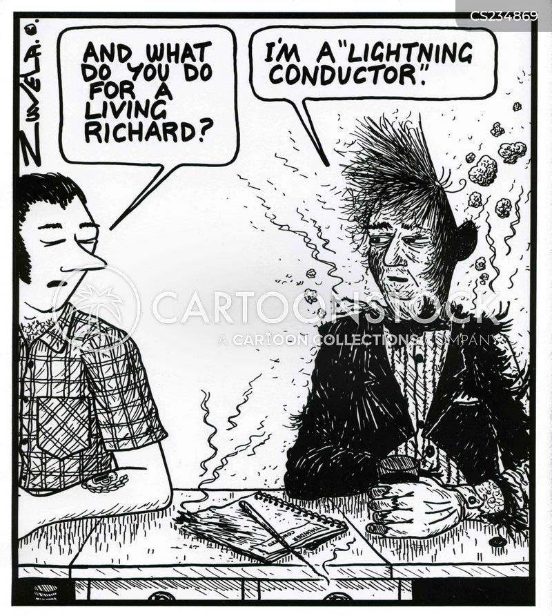 unusual job cartoon