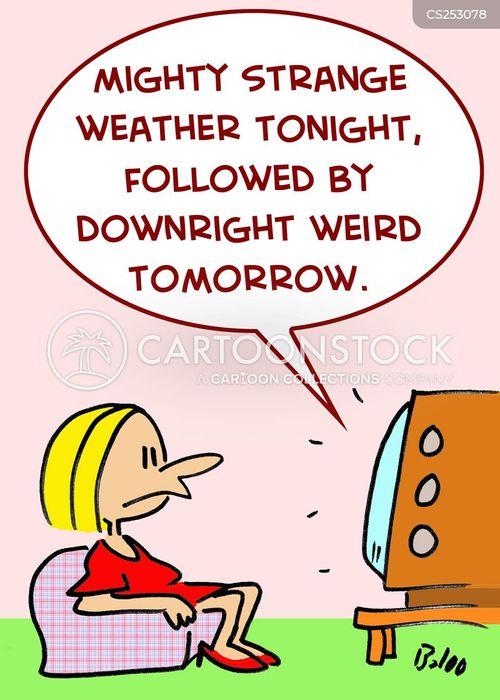 weird weather cartoon