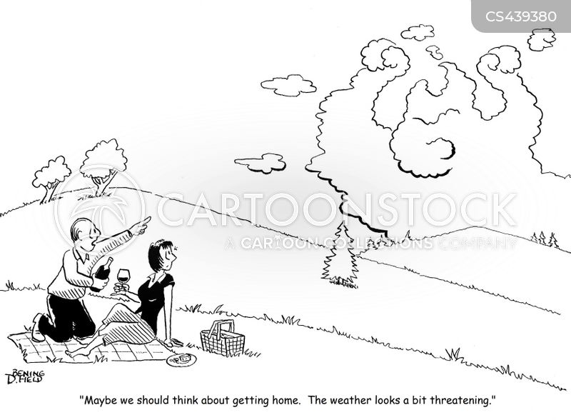 storm clouds cartoon