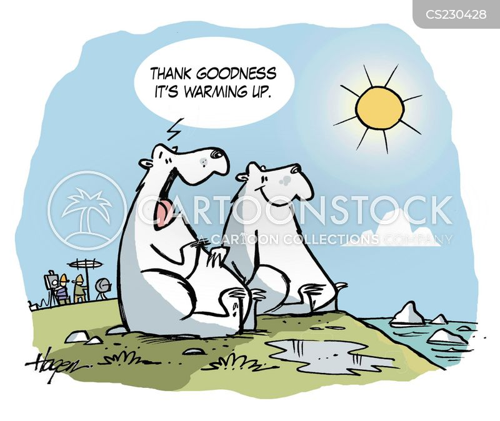 warmer climate cartoon