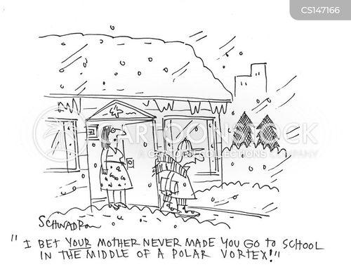 school closures cartoon