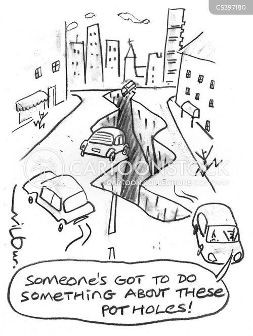 pot-hole cartoon