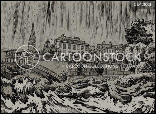 stormy conditions cartoon