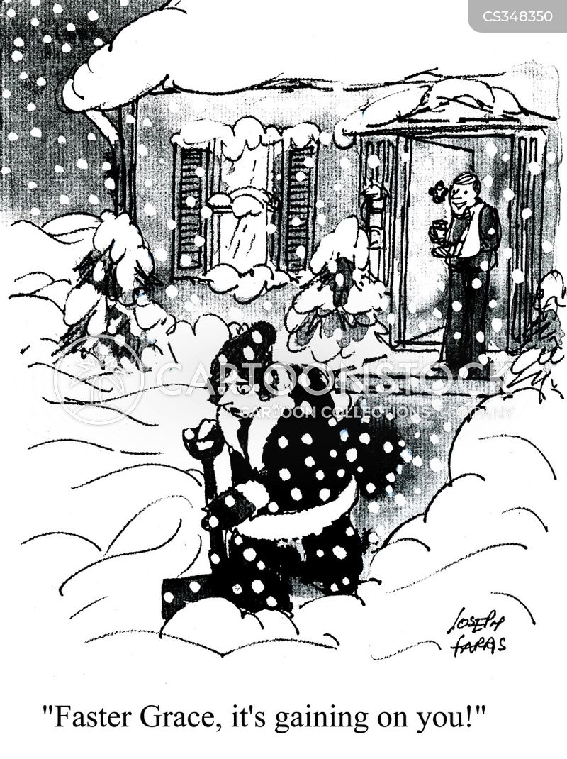 shovel snow cartoons and comics funny pictures from cartoonstock