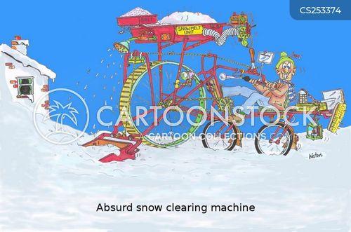 snow clearing cartoon