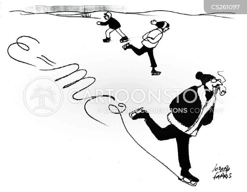 ice-skating cartoon