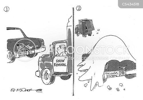 snowy condition cartoon