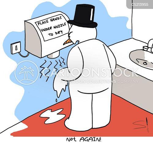 hand dryer cartoon