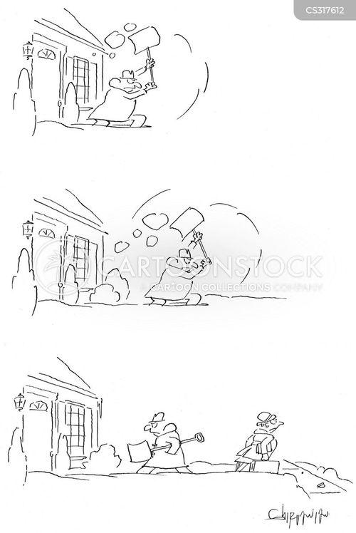 icy weather cartoon