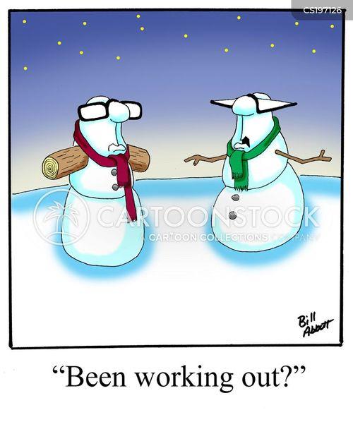 pilates cartoon