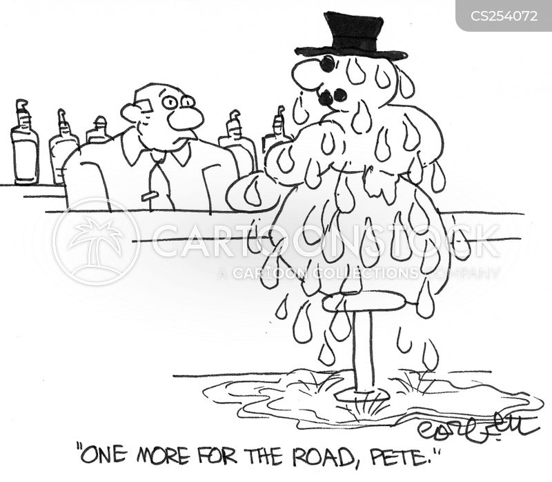 one for the road cartoon