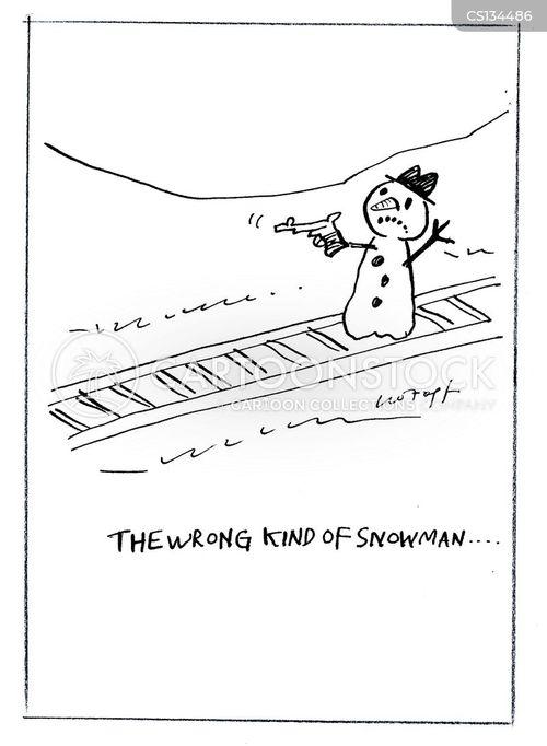 wrong side of the tracks cartoon