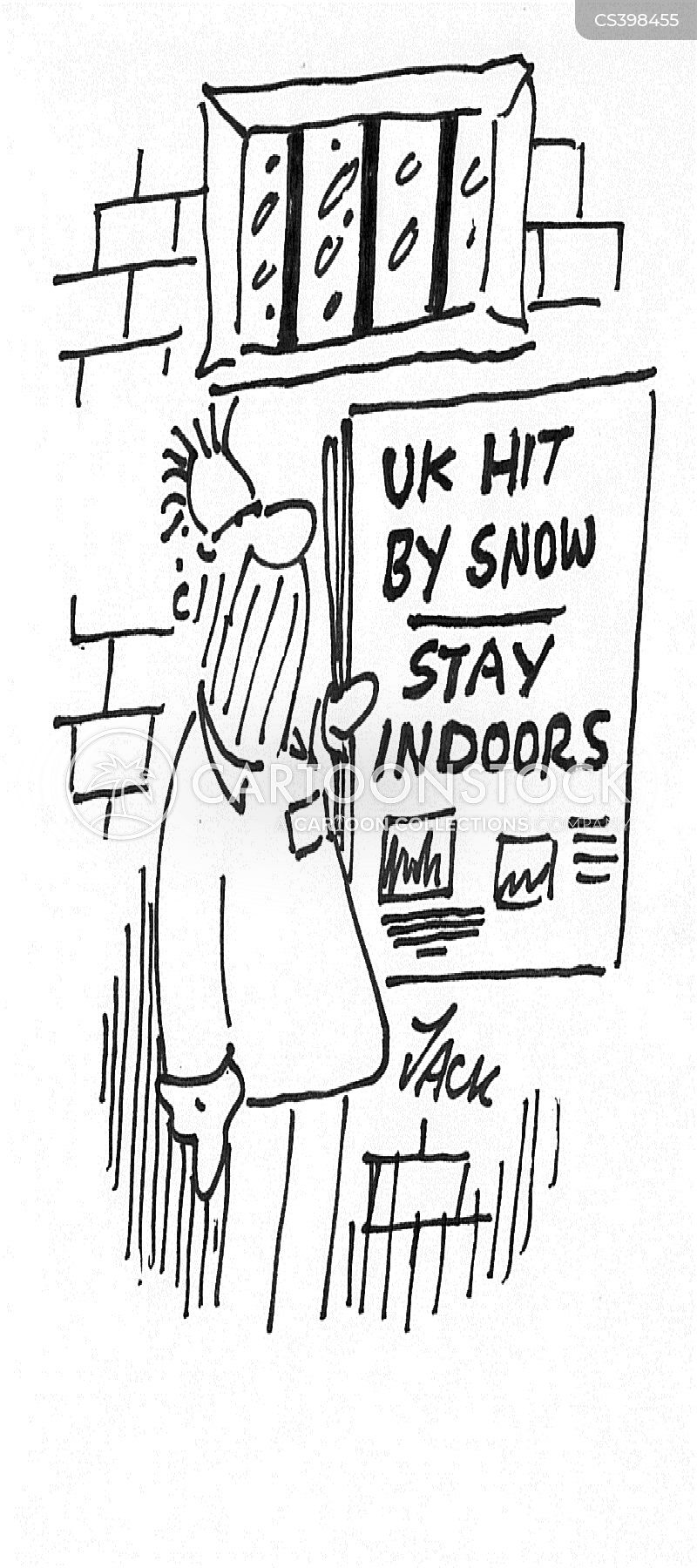 cold winters cartoon