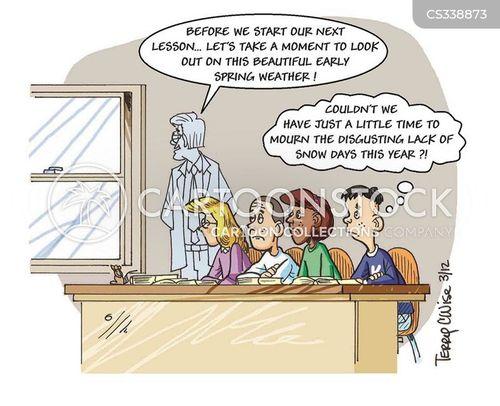 early spring cartoon