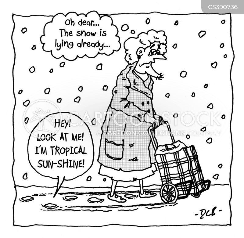 winter condition cartoon