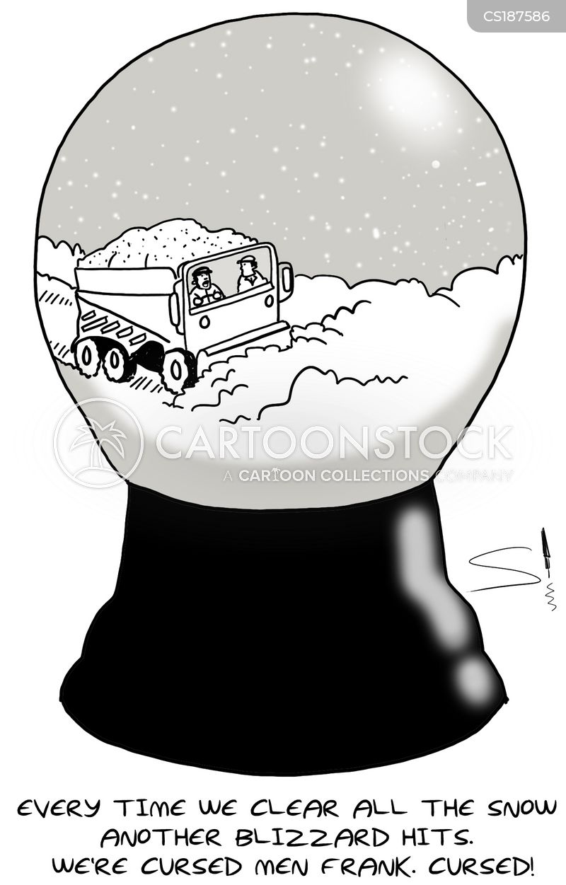 snowglobes cartoon