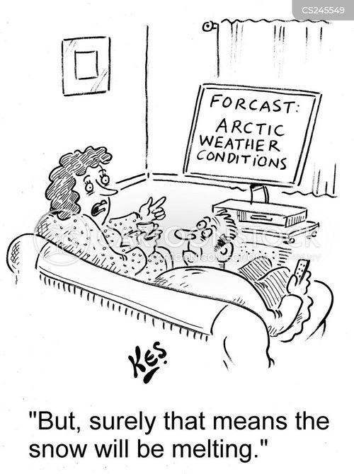 arctic weather cartoon
