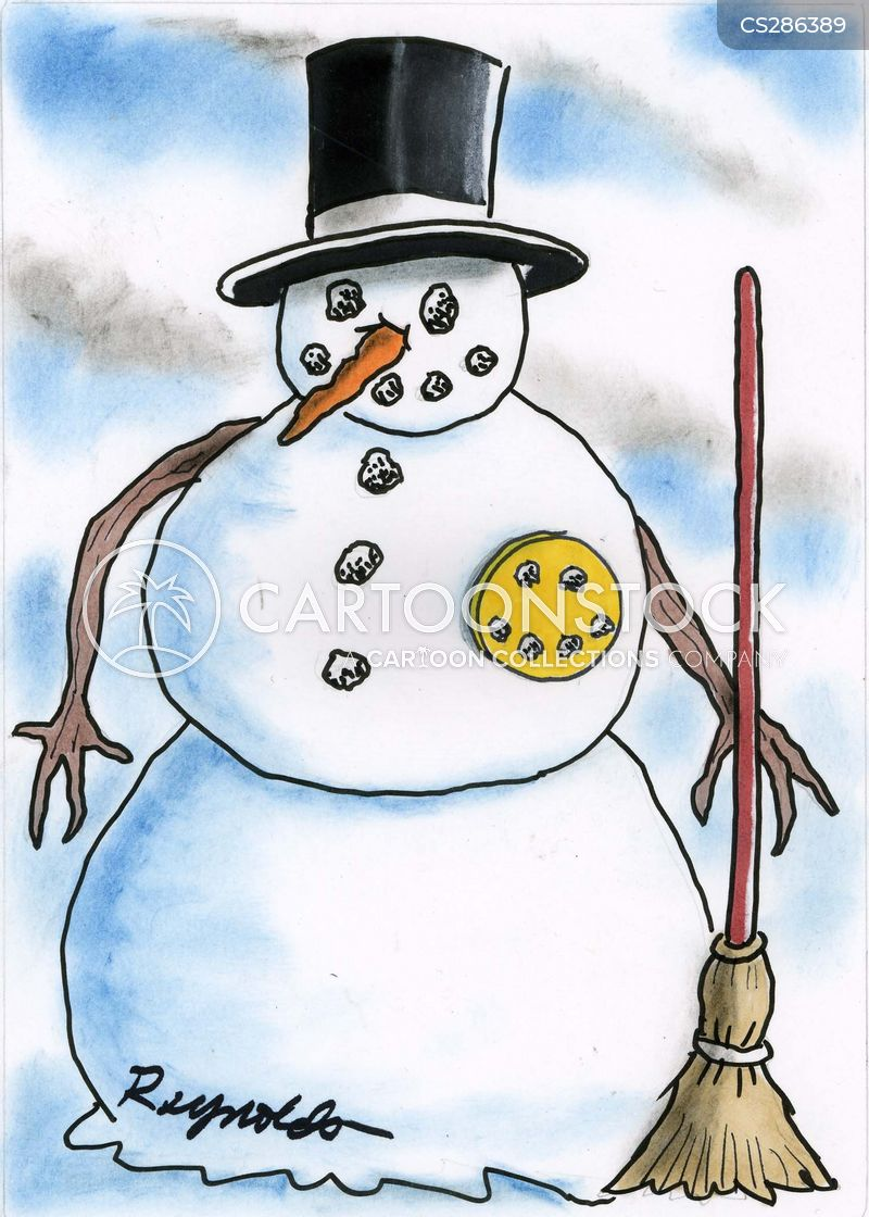 Cartoon snowman with penis