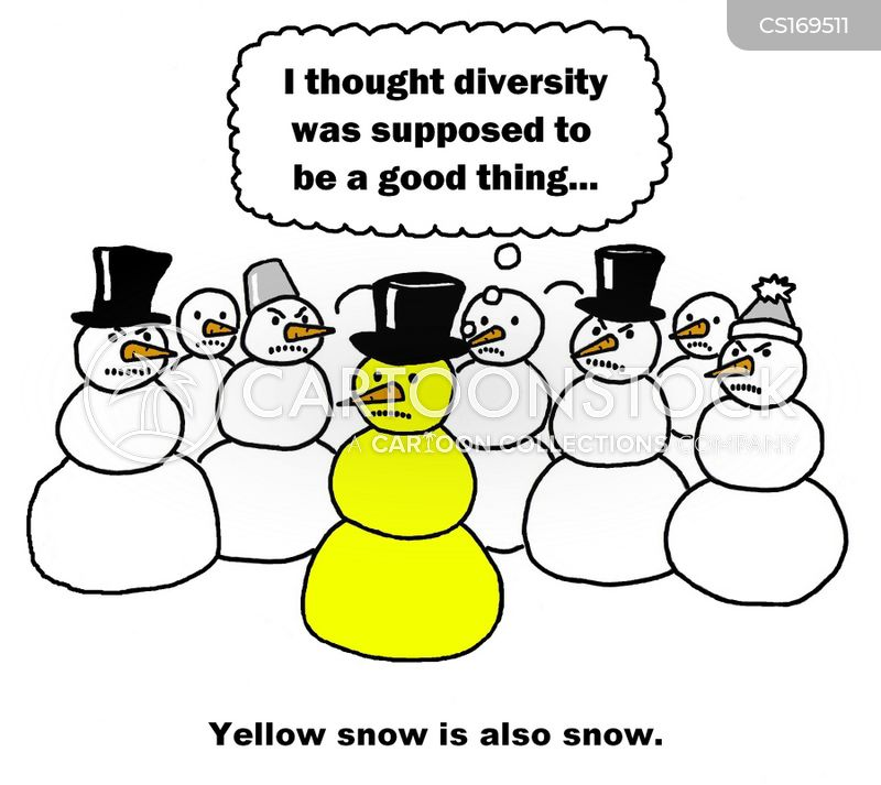 yellow snow cartoon