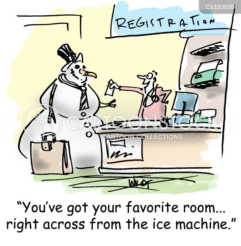 ice machine cartoon