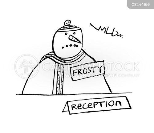 reception desks cartoon