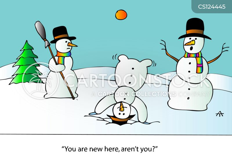 snow-fall cartoon