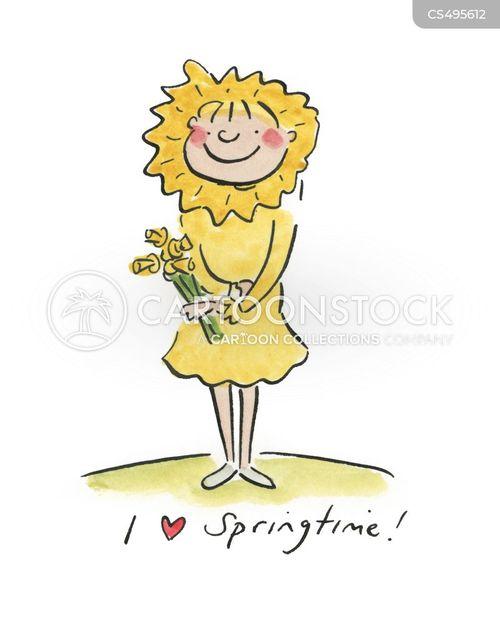 sun-flowers cartoon